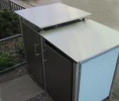 Müllboxen freistehend mit Hinterlüftung Edelstahl