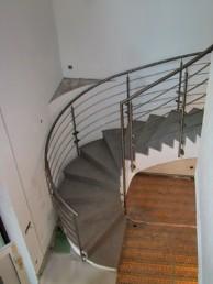 Treppe aus Edelstahl 2