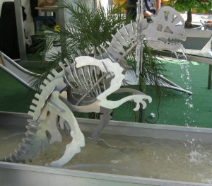Edelstahl Dino aus Heidelberg