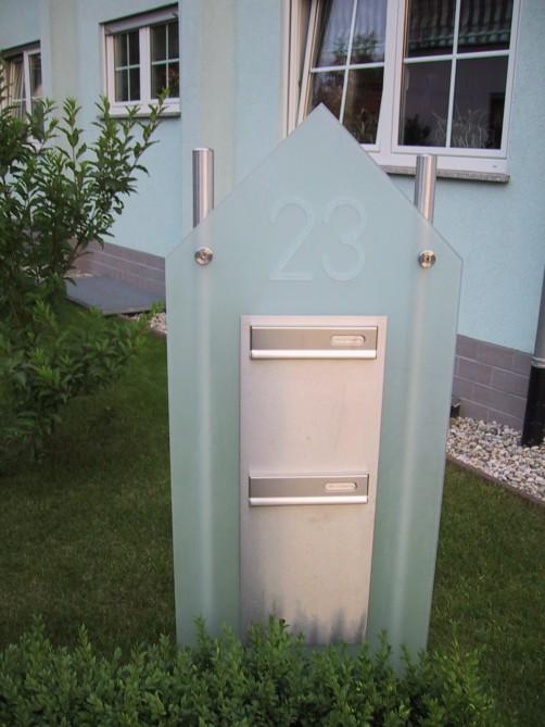 edelstahlbriefkasten mit glas heidelberg. Black Bedroom Furniture Sets. Home Design Ideas